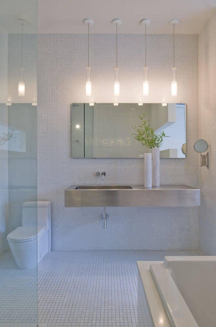 cuatro lamparas techo colgantes baño