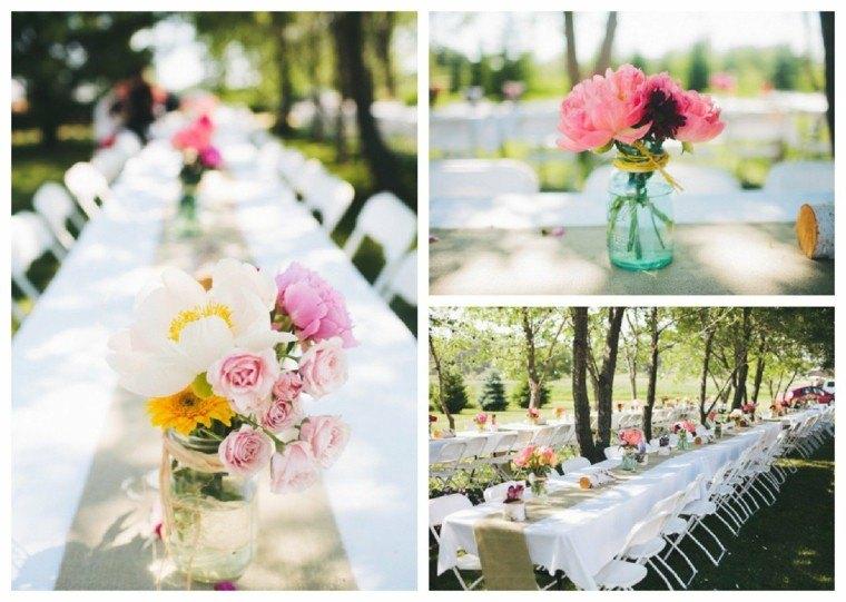 decoración mesa boda jardin