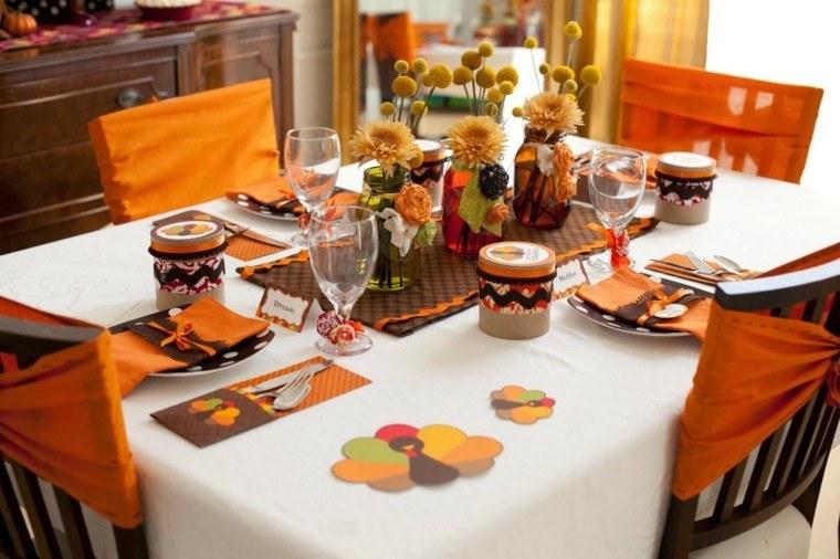 decorar mesa tonos calidos