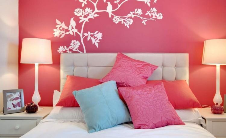 decorar pared dormitorio pintura