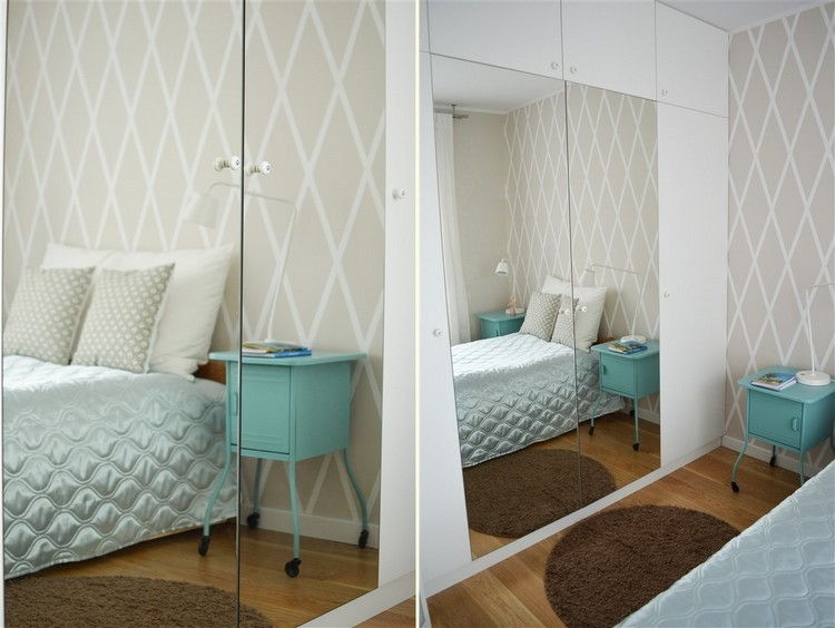 decoración pared dormitorio beige