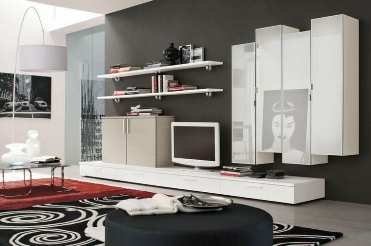 decoracion salon mueble blanco