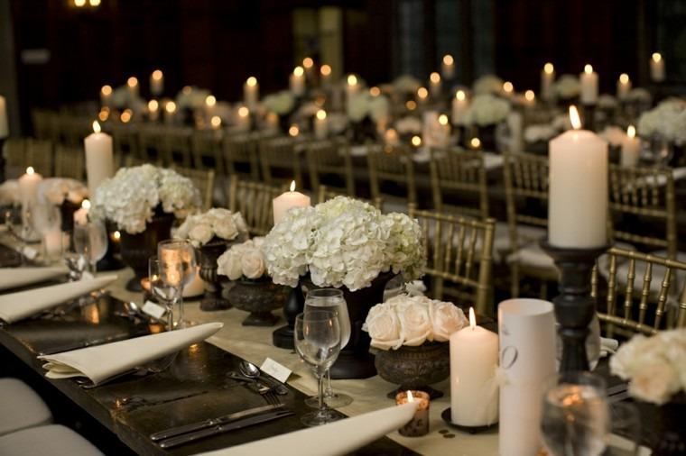 decoración de mesa boda noche