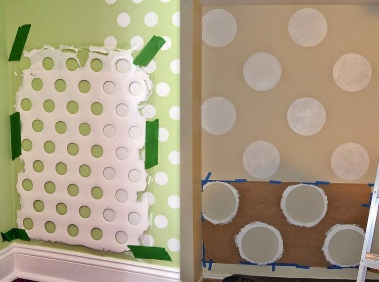 decoracion de paredes con lunares