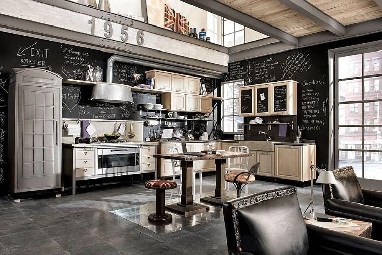 decoracion cocina estilo vintage pizarra ideas