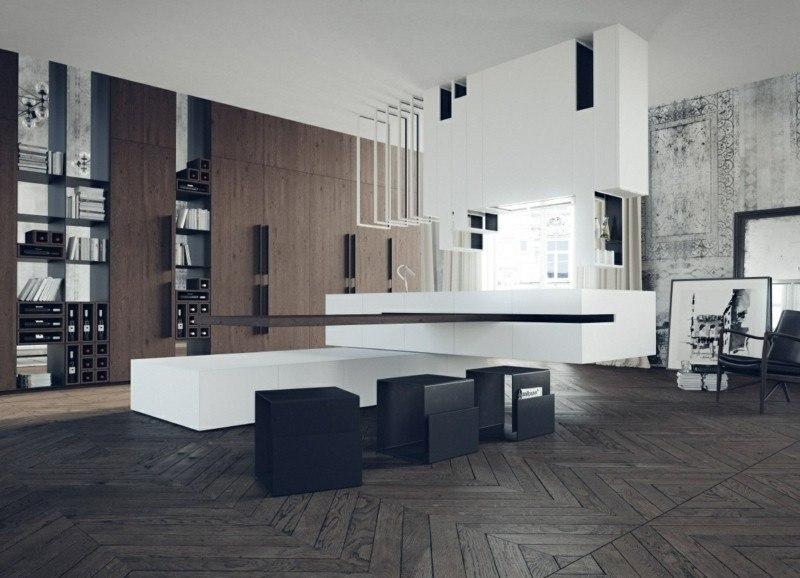 decoración de cocinas modernas amplia ideas
