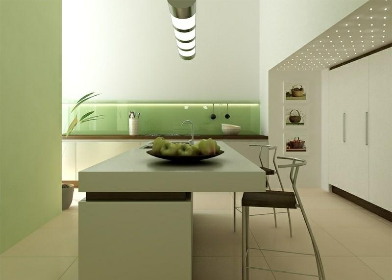 decoracion cocinas modernas isla verde ideas