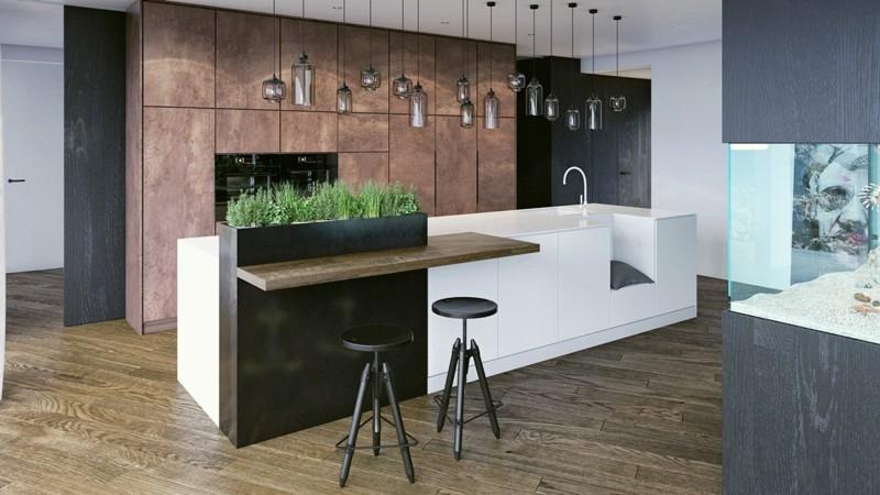 decoracion cocinas modernas jardin hierbas ideas