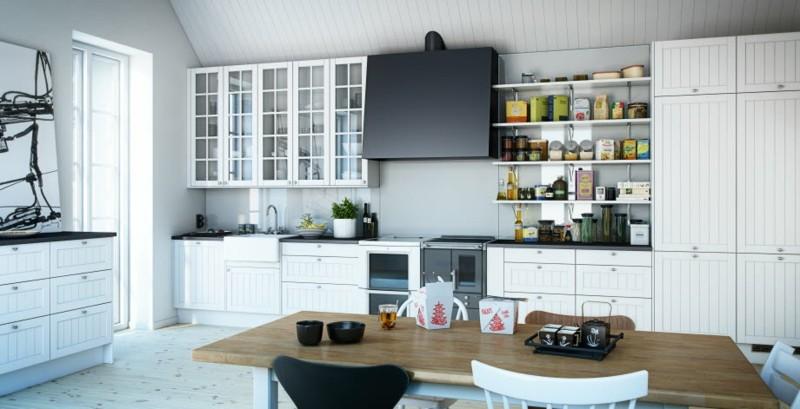 decoracion cocinas modernas madera blanca ideas