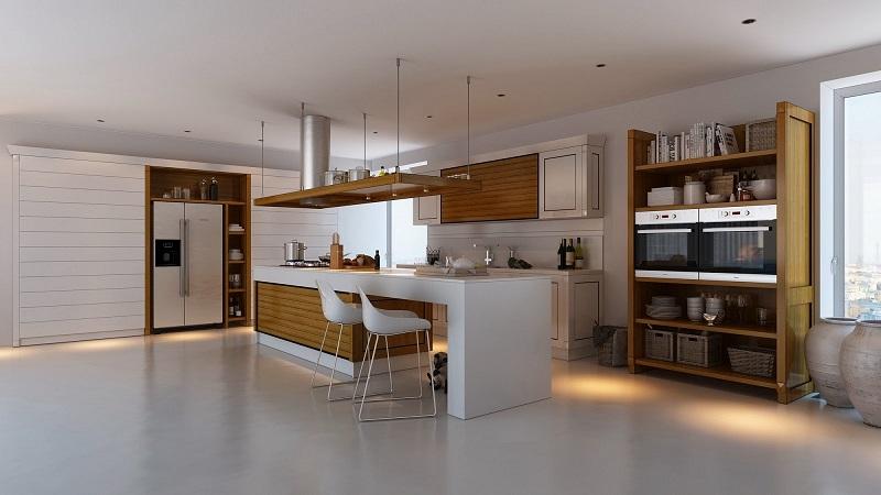decoracion cocinas modernas muebles madera ideas