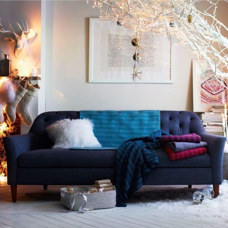 decoracion interiores salones acogedores decoracion navidena ideas