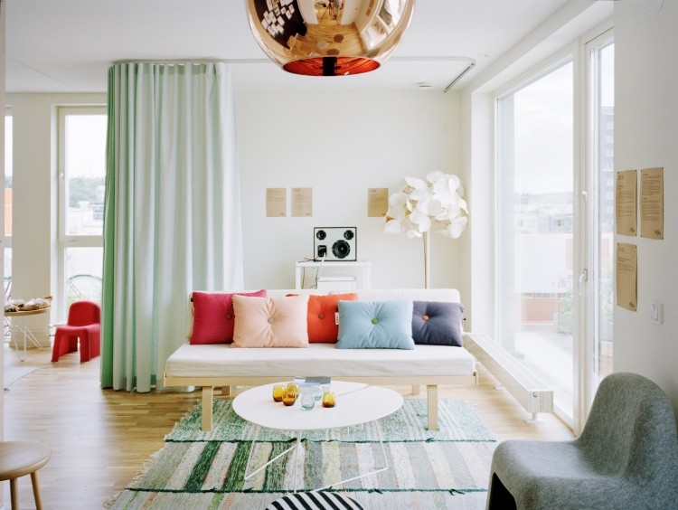 decoracion de interiores salones acogedores lampara preciosa ideas