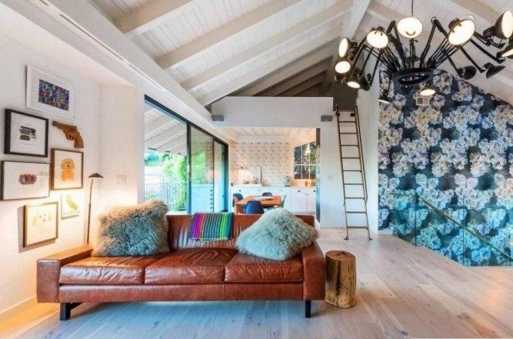 decoracion de interiores salones acogedores sofa cuero ideas