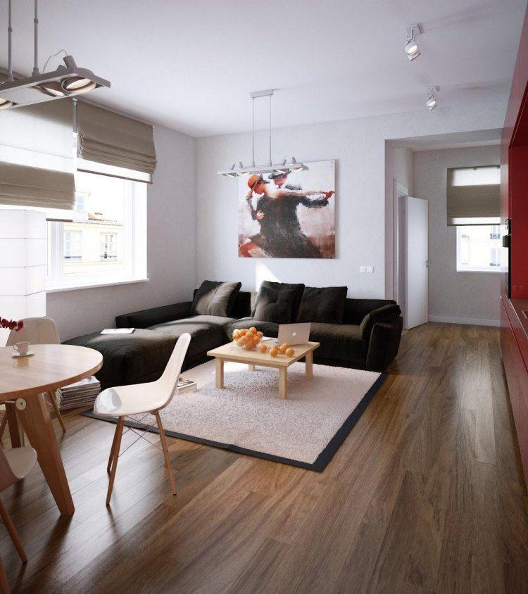decoracion de interiores salones acogedores sofa negra ideas
