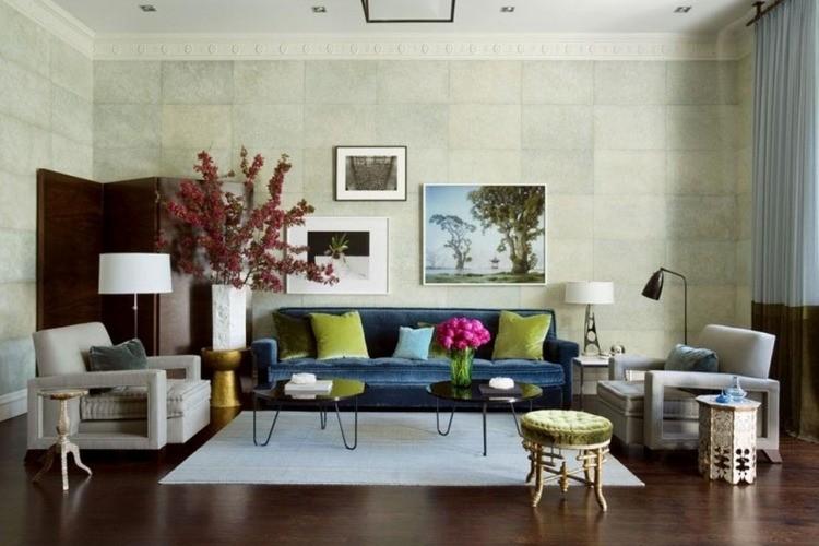decoracion de interiores salones acogedores sofa terciopelo ideas