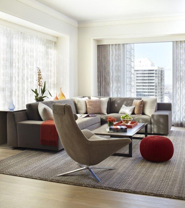 decoracion de interiores salones acogedores taburete precioso ideas
