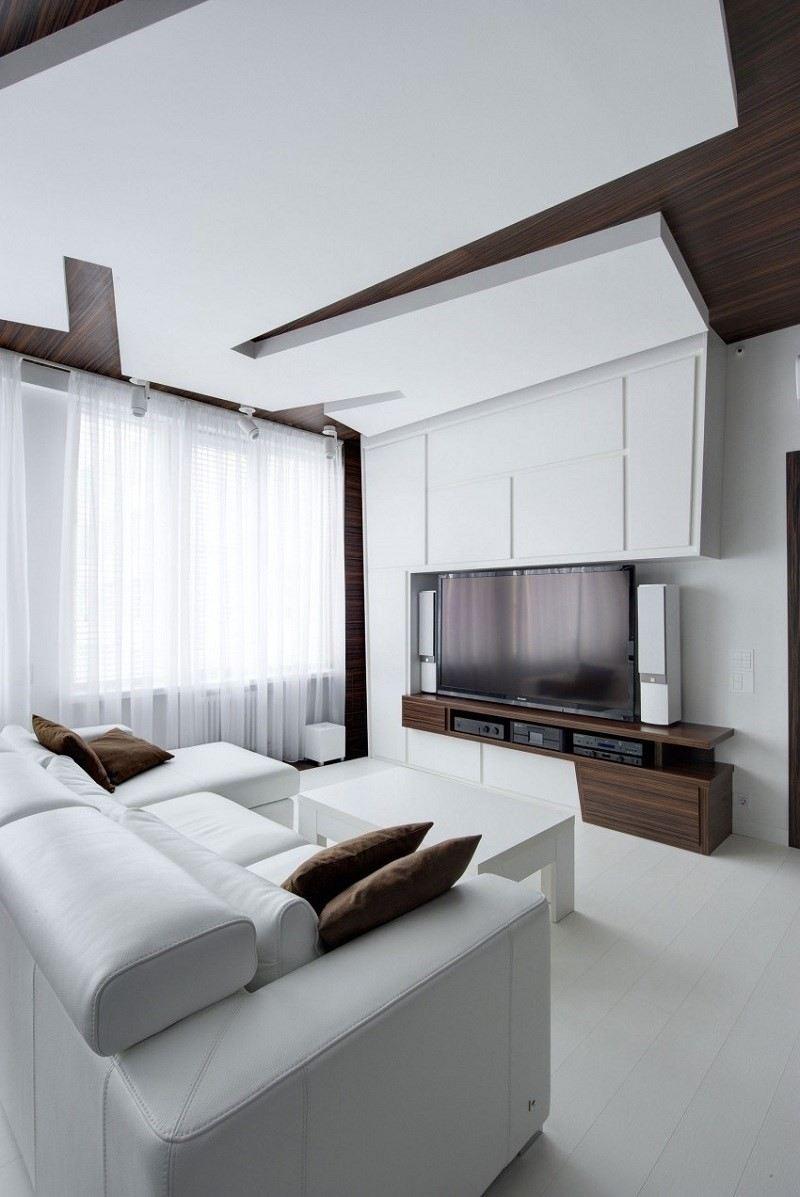 decoración de salones cortinas sofa blancos ideas