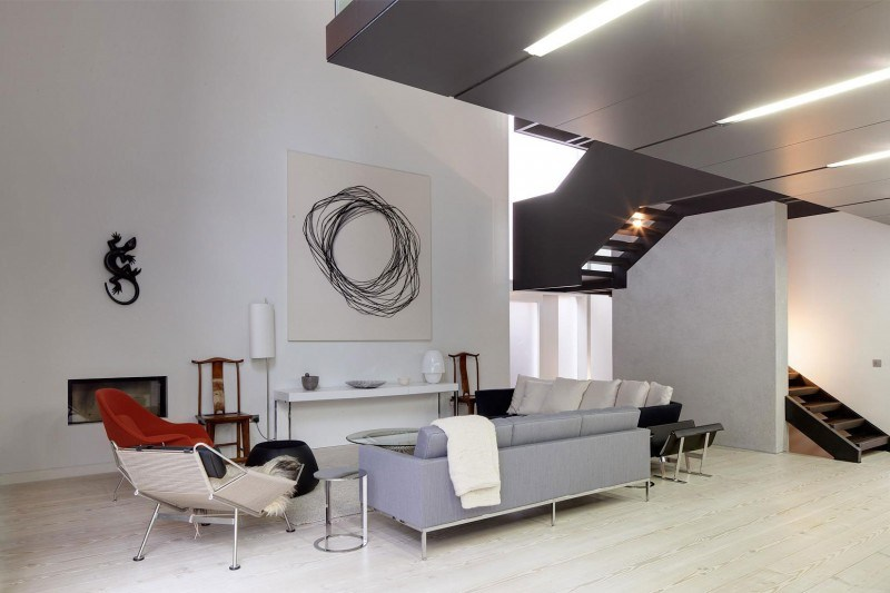 decoración de salones cuadro arte moderno ideas