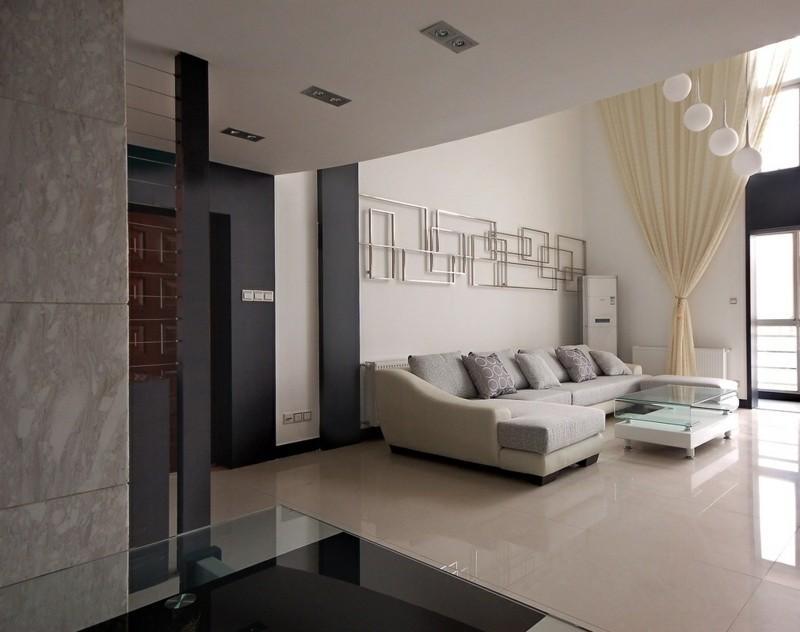 decoración de salones decoracion pared acero ideas