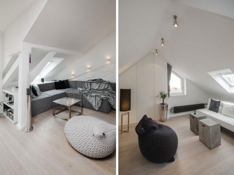 decoración de salones loft gris ideas