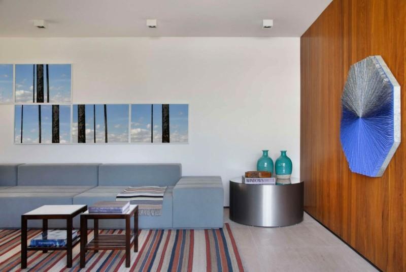 decoracion salones modernos mesa acero ideas