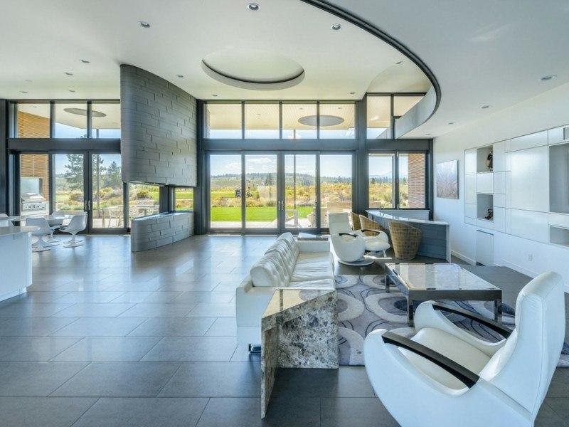 decoracion salones modernos mesita marmol ideas