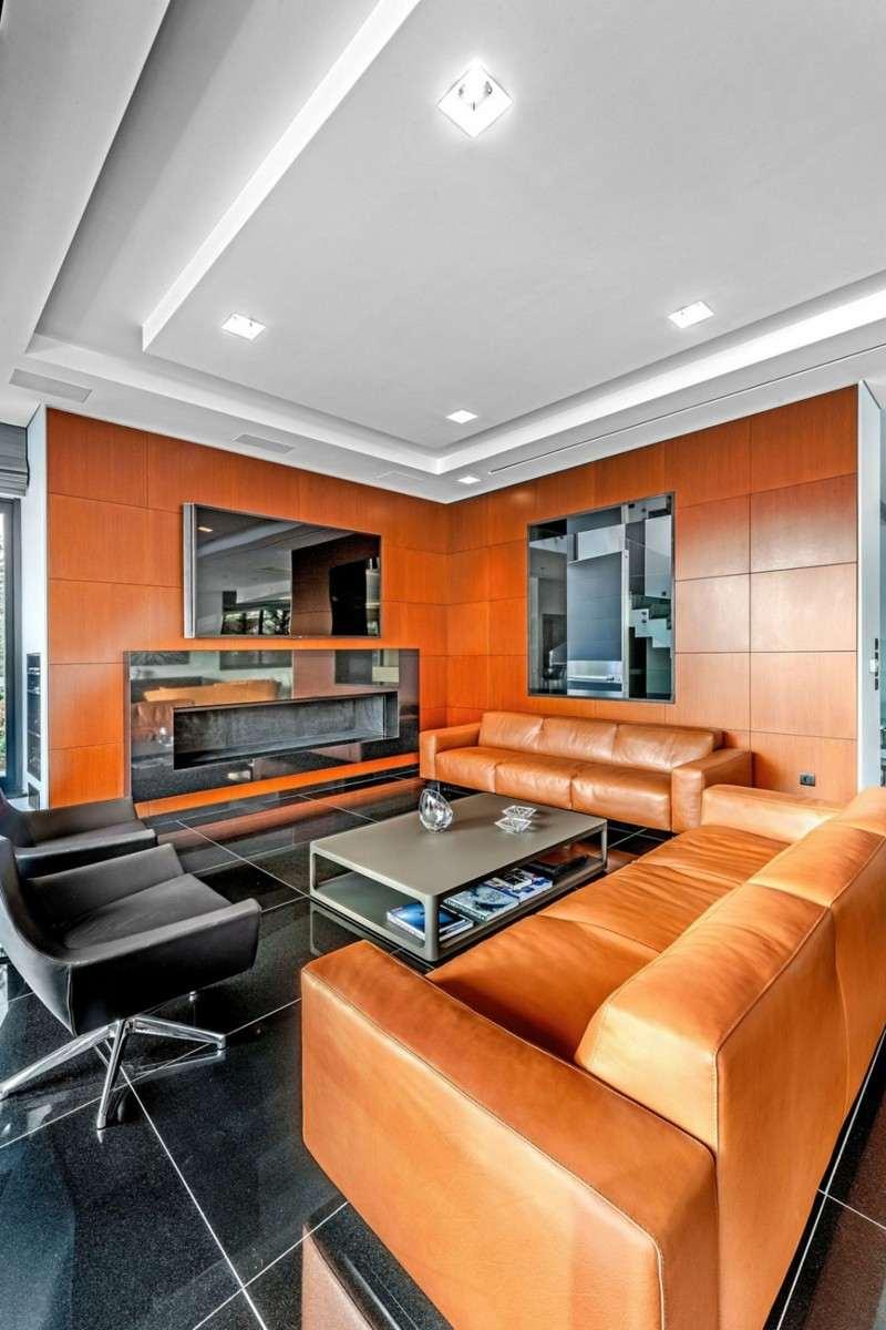 decoracion salones modernos muebles cuero ideas