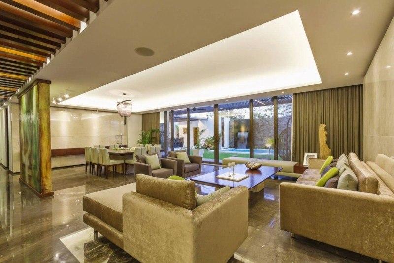 decoracion salones modernos sofa terciopelo ideas