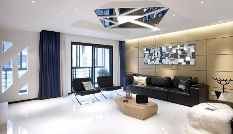 decoracion salones pared plata ideas