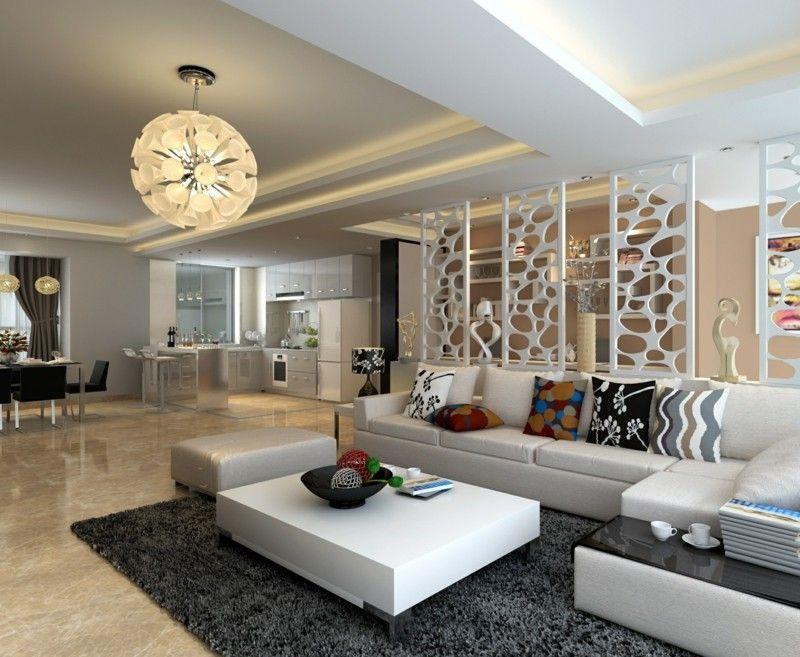 decoracion salones separador ambientes blanco ideas