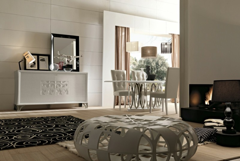decoracion salones taburete blanco ideas