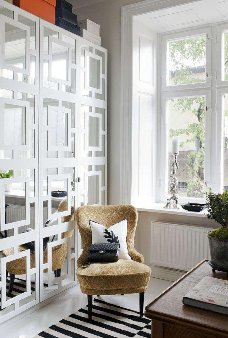 decoracion estilo vintage alfombra rayas ideas