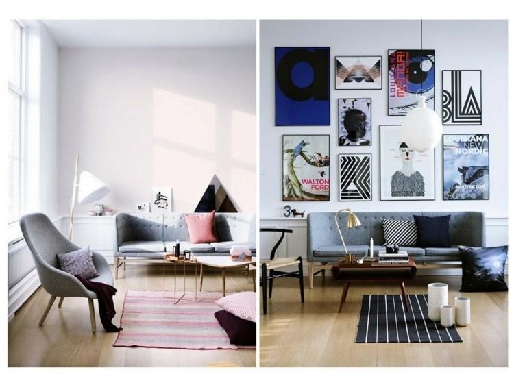 Decoracion vintage para cocinas salones y dormitorios for Decoracion paredes salon