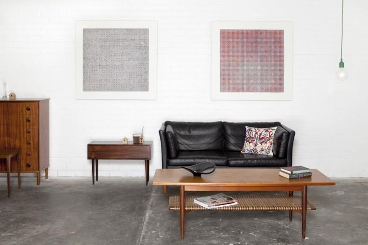 decoracion estilo vintage sofa negra ideas