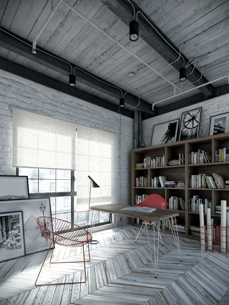 decoracion industrial grises diseños focos