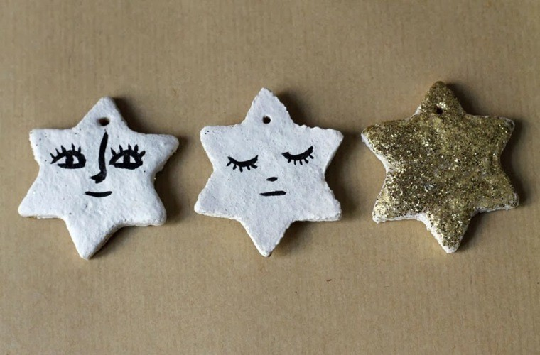 decoracion infantil manualidades blanco estrellas dorado