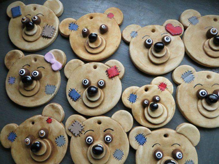 decoracion infantil manualidades osos madera pequeños