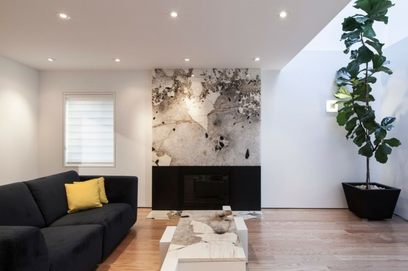 decoracion interiores mesa pared marmol ideas