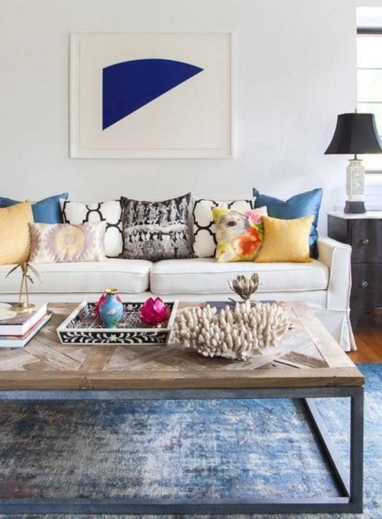 decoracion interiores salones acogedores alfombra mesa preciosa ideas