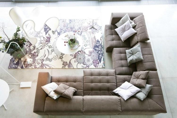 decoracion interiores salones acogedores alfombra preciosa ideas