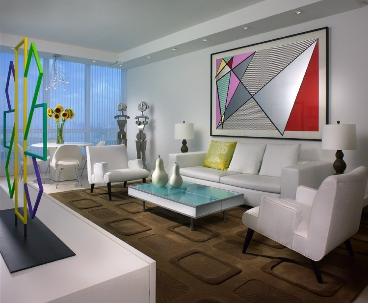 decoracion interiores salones acogedores comedor muebles blancos ideas