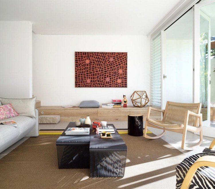 decoracion interiores salones acogedores cuadro llamativo ideas