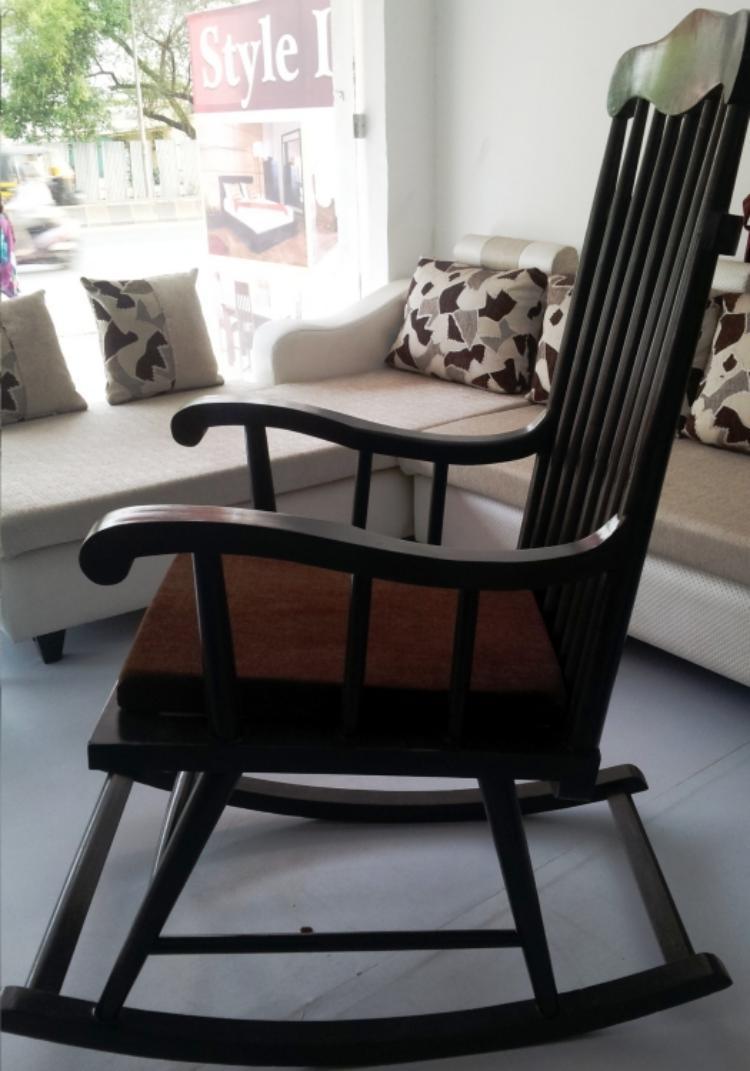 decoracion interiores salones acogedores silla balanceadora ideas