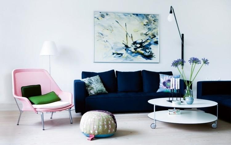 decoracion interiores salones acogedores sillon rosa ideas
