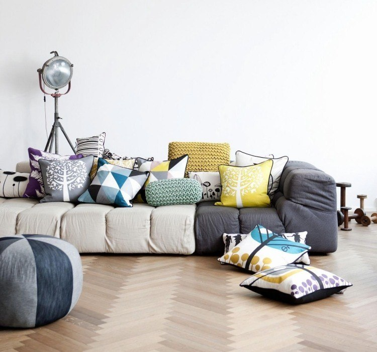 decoracion interiores salones acogedores sofa preciosa gris ideas