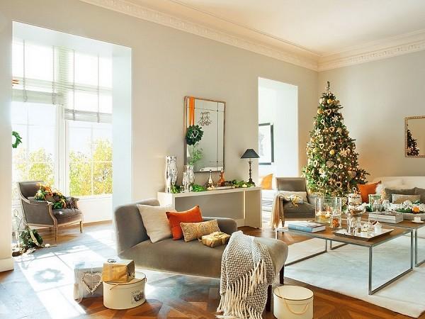 Decoraci n navide a casa espa ola con adornos preciosos - Decoracion navidena casas ...