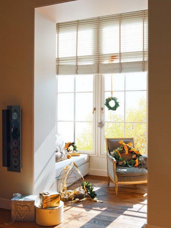 decoración navideña casa espanola moderna guirnaldas ideas