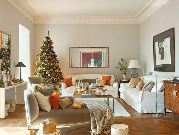 Decoraci n navide a casa espa ola con adornos preciosos - Decoracion navidena de casas ...