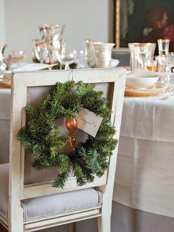 decoracion navidena casa espanola moderna silla ideas