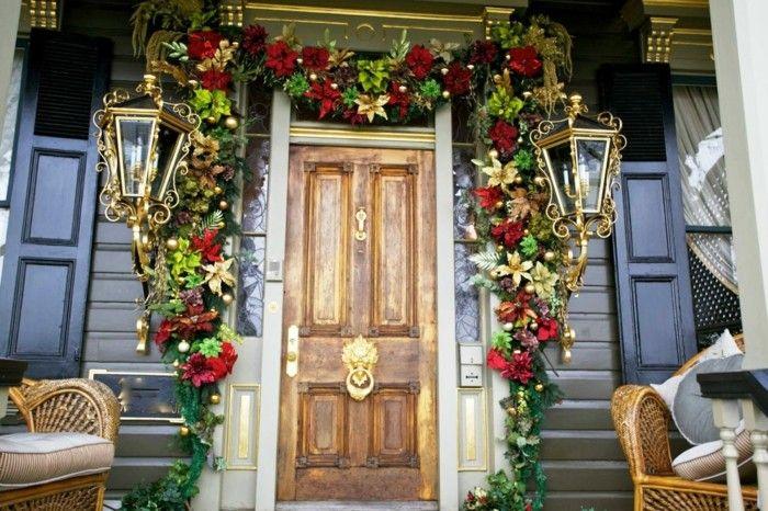 decoracion otono porche puerta guirnalda llamativa ideas